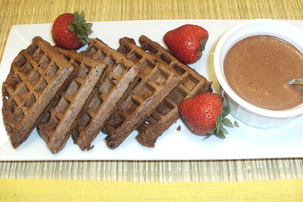 Chocolate Cream Waffles